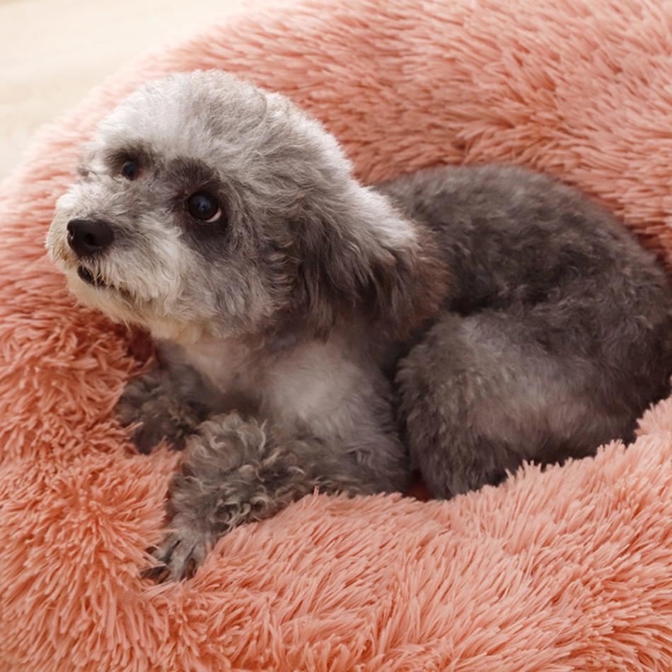 ที่นอนขนนุ่มโดนัท Petsuka สำหรับสัตว์เลี้ยง สีชมพู 50 cm