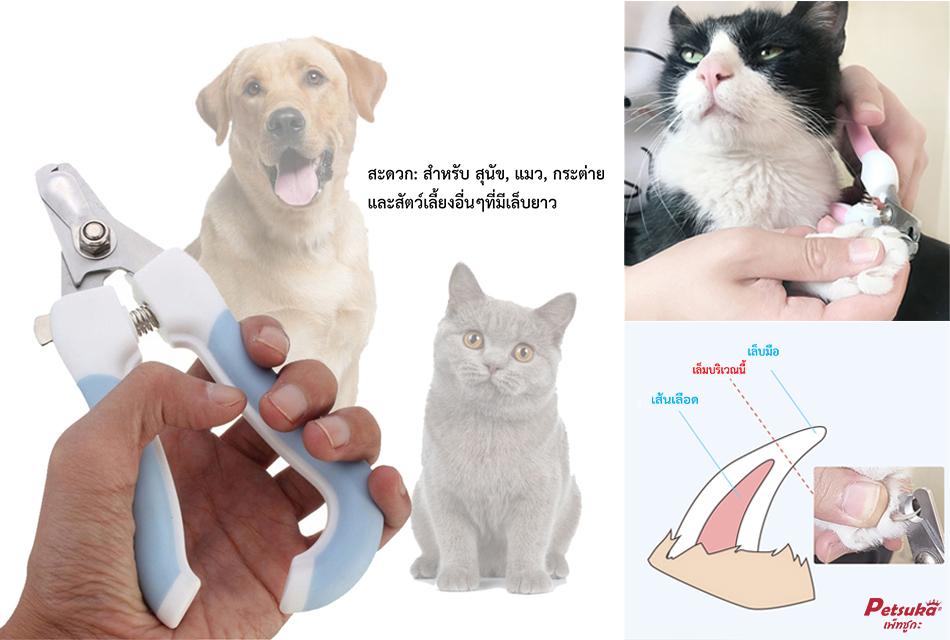 กรรไกรตัดเล็บ มาพร้อมตะไบลับเล็บสัตว์เลี้ยง Petsuka (2in1)